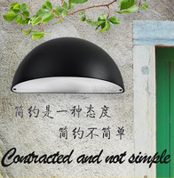 Waterproof Contracted Outdoor Lighting Wall Lamps Outdoor Lamp Garden Lights Contains LED Bulb Free Shipping