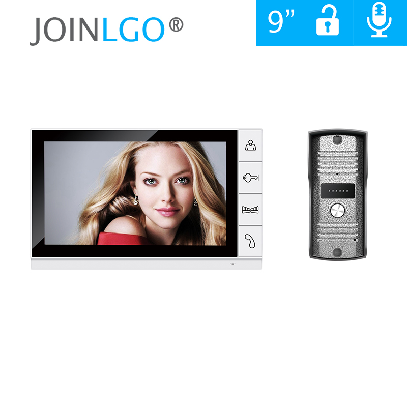 FREE SHIPPING Home Security 9 inch TFT LCD Monitor Video Door phone Video Intercom System With