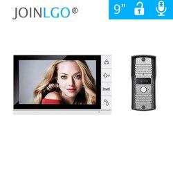 Бесплатная доставка Домашняя безопасность 9 дюймов TFT lcd монитор видео домофон система с дверной звонок с функцией ночного видения камера