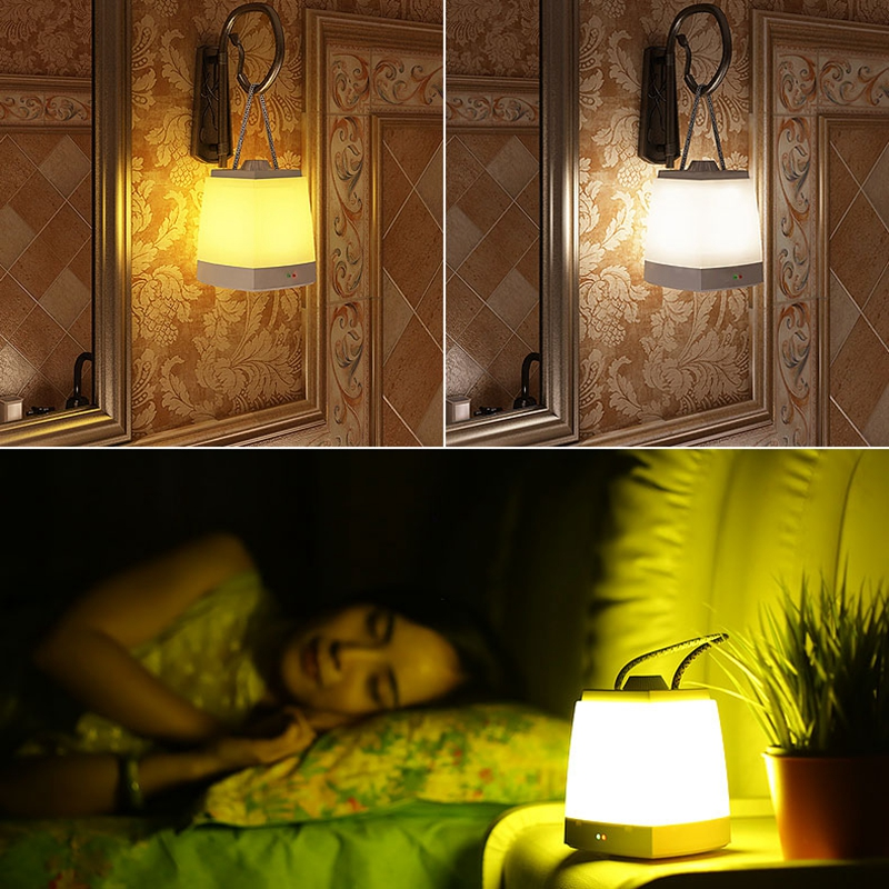 Creative Portable USB Rechargeable LED Night Light Home Bedroom Eyes Protection Baby Feeding Lamp New Camping Tent Night Light