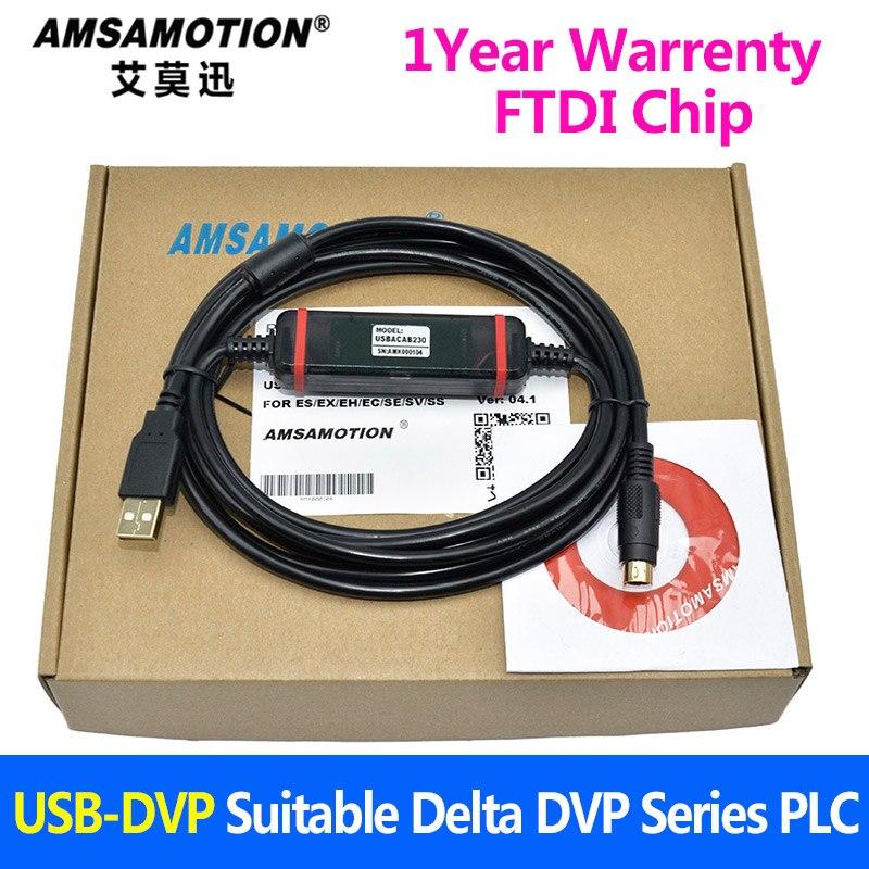USB-DVP Suits Delta PLC Programming Cable USBACAB230 DVP ES EE SS Series