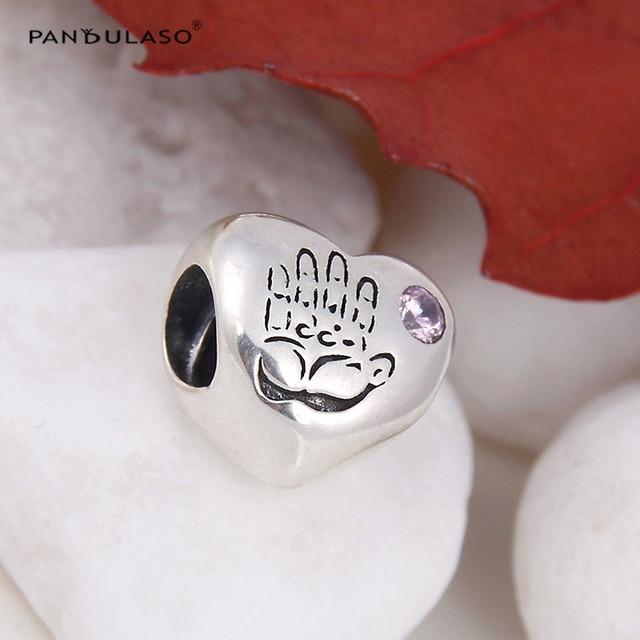 Cuore Della Neonata Argento Borda I Braccialetti Europei 100% 925 Sterling Silver Charm per Le Donne FAI DA TE gioielli Commerci All'ingrosso