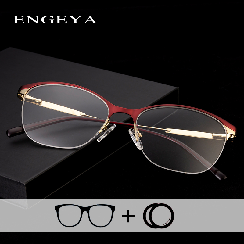 ENGEYA Alloy Eyewear Women Eyeglasses Retro Vintage Transparent Optical Computer