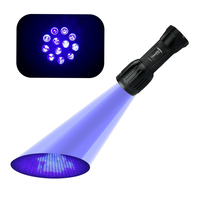 UniqueFire UV Flashlight 1408 Best LED Single File Ultra Violet Flashlight To Find Stains On Carpet, Rugs Or Furniture Material.