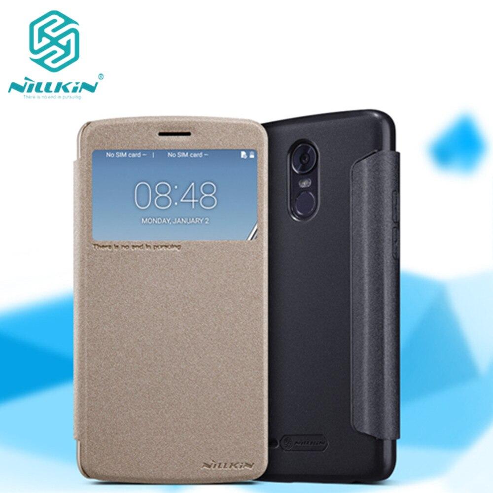For LG Stylus 3 M400DK case 5.7 inch NILLKIN sparkle PU