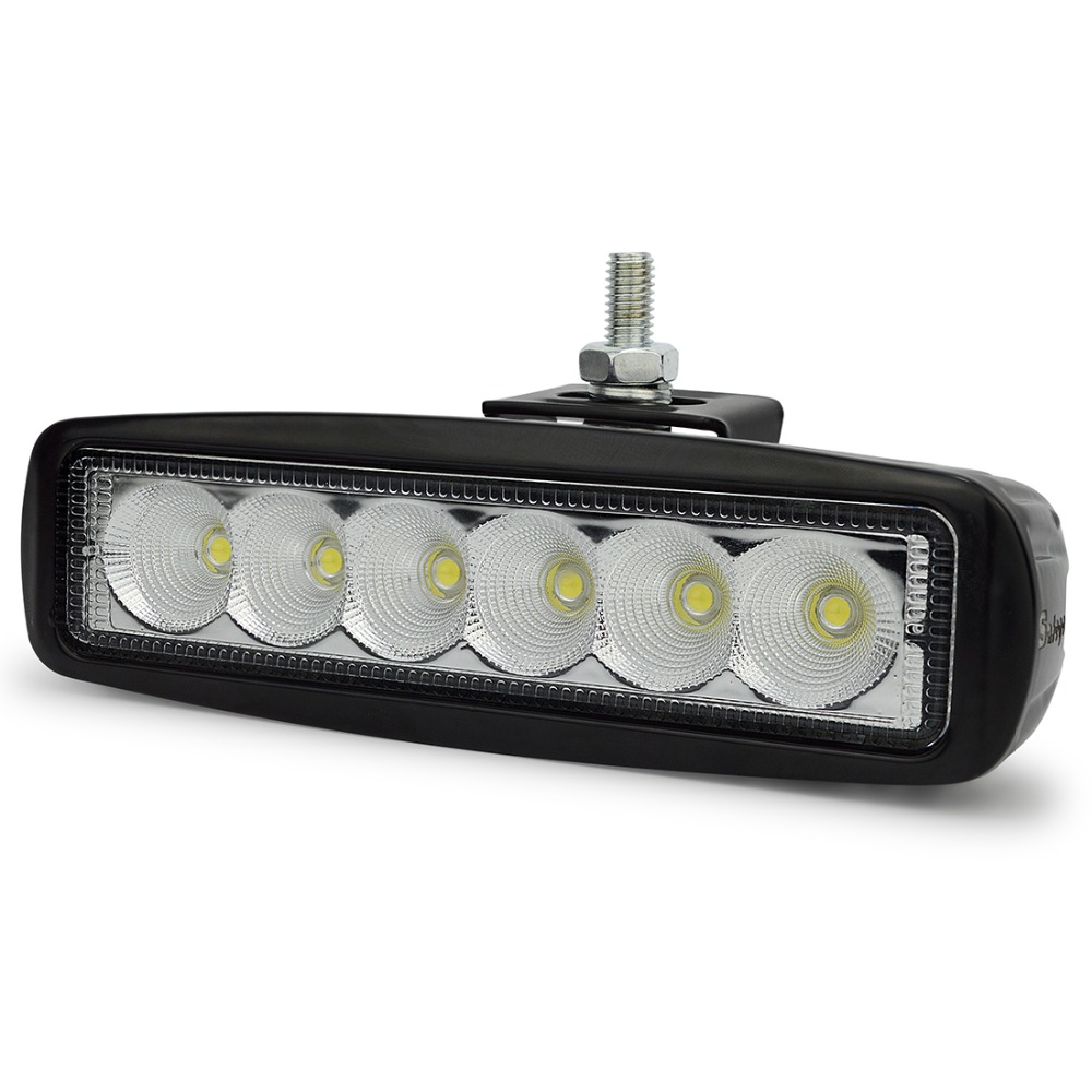 2 pcs 6 Inch 18 W LED Kerja Ringan untuk Indikator Motor Mengemudi - Lampu mobil - Foto 2