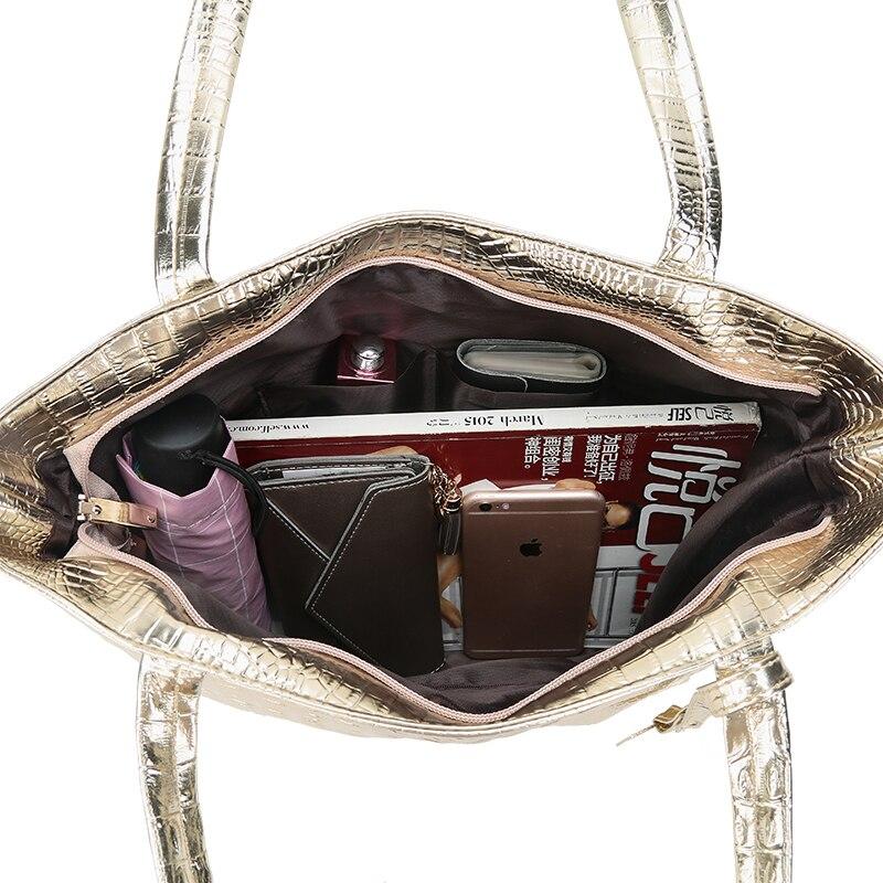 34daa8237e Fashion Alligator Women Big Bag Luxury Handbags Women Bags Designer Soft PU  Leather Casual Large capacity Shopping Bag Bolsas-in Shoulder Bags from  Luggage ...