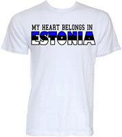 Эстония футболки мужские Смешные Прохладный Новинка эстонский флаг слоган шуточные подарки футболка