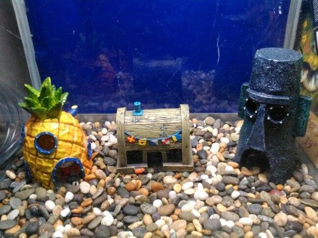 Decorations United Aquarium Ornaments Spongebob Pineapple House Hole Fish Tank Decoration/ Making Things Convenient For Customers
