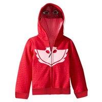 Owlette Cosplay Costumes PJ And Masks Girls Red Hoodies Cosplay Streetwear Pajama Hero Costumes Kids Top