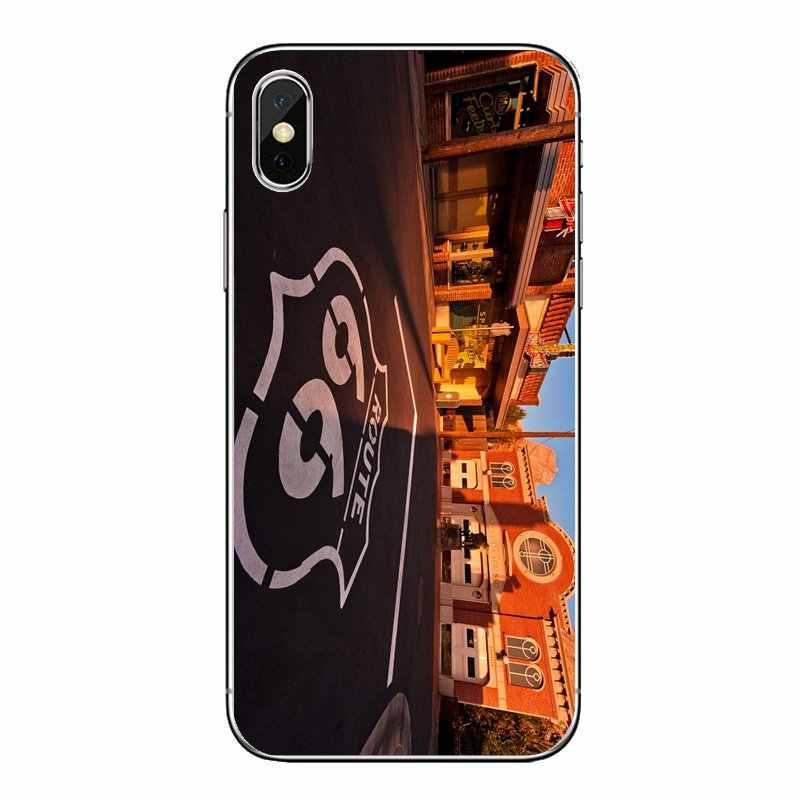 Для Xiaomi mi A1 A2 5X6X8 lite SE Pro Max mi x 2 2 S 3 S mi 5 mi 5S мягкий прозрачный просвечивающийся чехол Чехлы США дорога 66 автомобильные мотоциклетные