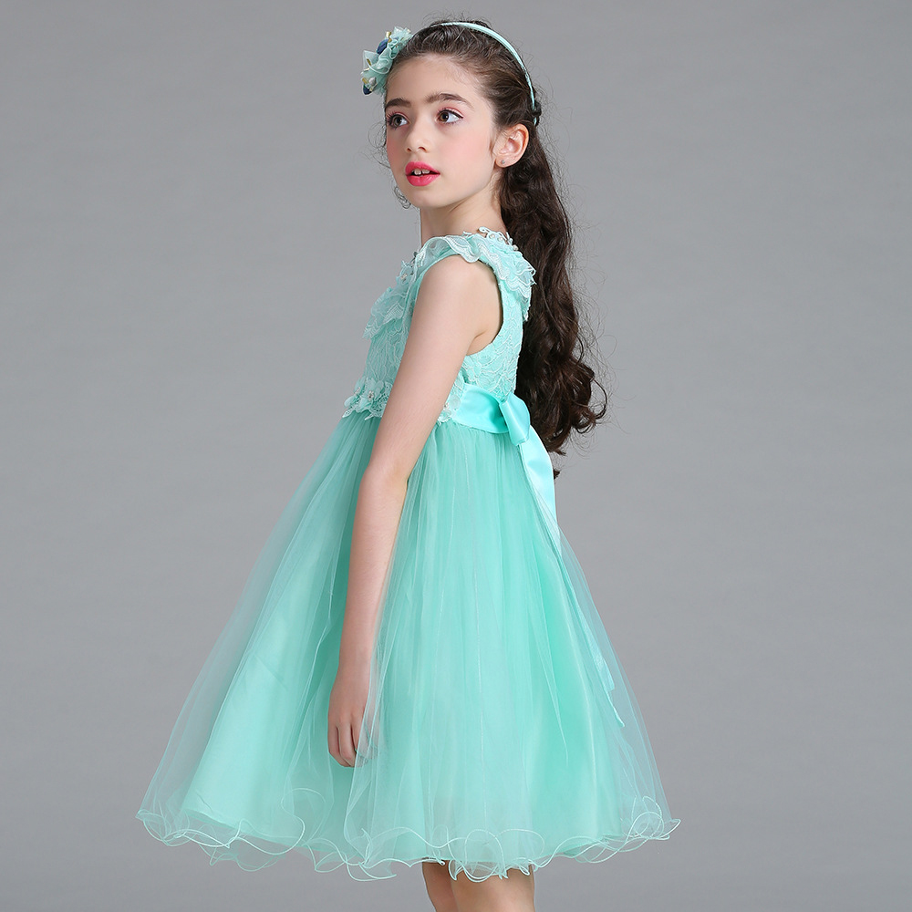 Dress Girl Princess 2018 New Fashion Lace Sleeveless Girls Party ...