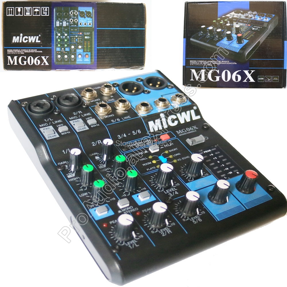 High Quality Audio Sound Mixing console MG6 6 Channel Input Small Mixer Effects LN for Stage DJ yamaha mixer profesional audio consule mg82cx 8 channel input analog mixer with compression and effects ln for stage dj
