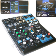High Quality Audio  Sound Mixing console MG6 6 Channel Input Small Mixer Effects LN for Stage DJ стоимость