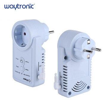 Enchufe de la UE GSM energía falla de energía SMS de alarma de Control remoto Socket interruptor con teléfono alerta temperatura consulta función