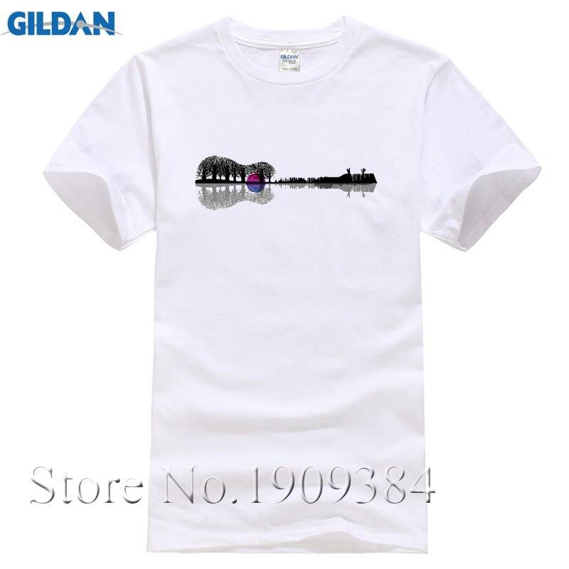 Design Men 39 S T Shirt Music Instrument Tree Silhouette