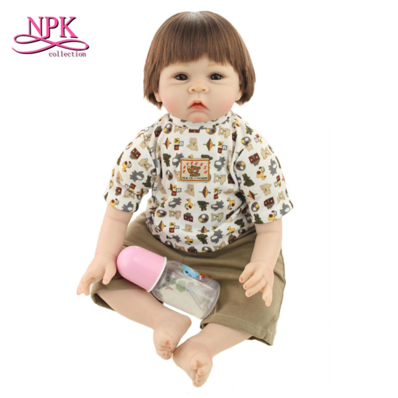 50cm New Design Silicone Reborn Baby Dolls Dressed Doll,Silicon Dolls Reborn Babies Cloth Body with Hat Newborn Toy for Children yamaha silicon cloth m