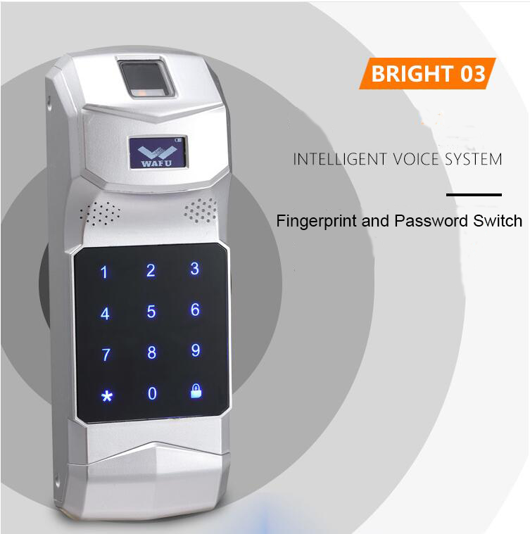 Wafu HF-010 Wireless Electronic Door Lock Phone Control Invisible Lock Remote Control Smart Lock Indoor Touch switch locks