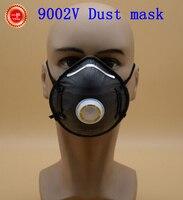 9002V Respirator Dust Mask High Quality Nonwovens Anti Dust Mask Black Independent Breathing Valve Dust Respirator