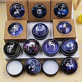 High Quality 12 Signs Constellation Zodiac Perfumes  Magic Solid Perfume Deodorant Solid Fragrance For Women Men