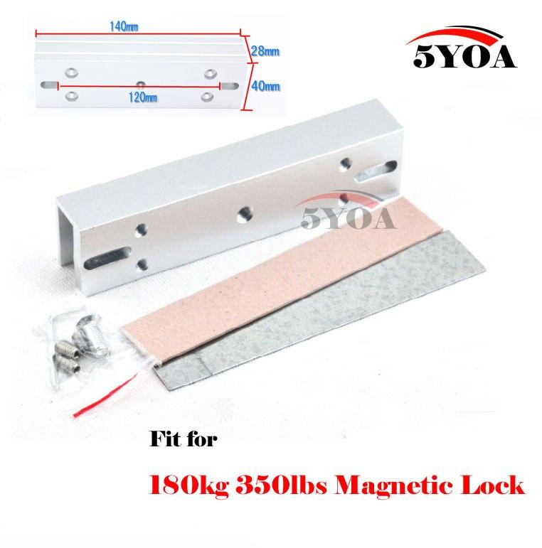 bilder für Magnetverschluss U form halterung für 180 kg £ rahmenlose glastür Zugangskontrolle System UM180