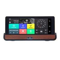 7.8 Inch 4G Car DVR Camera GPS FHD 1080P Android Dash Cam Navigation ADAS Car Video Recorder Dual Lens with Reverse image