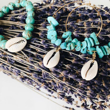 New 2019 Fashion Shell Bracelet Natural Stone Bracelet Earring Set For Women Colorful Bracelet BOHO Jewelry