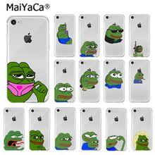 MaiYaCa Sad Frog pepe meme TPU мягкий высококачественный чехол для телефона для iPhone X XS MAX 6 6S 7 7plus 8 8Plus 5 5S XR
