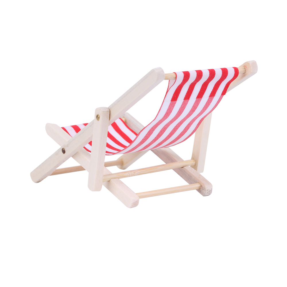 Magnificent 1Pc Wooden Lounge Chair Striped For 1 12 Dollhouse Miniature Furniture For Dolls Dollhouse Beach Chair Christmas Gift Kids Toy Creativecarmelina Interior Chair Design Creativecarmelinacom