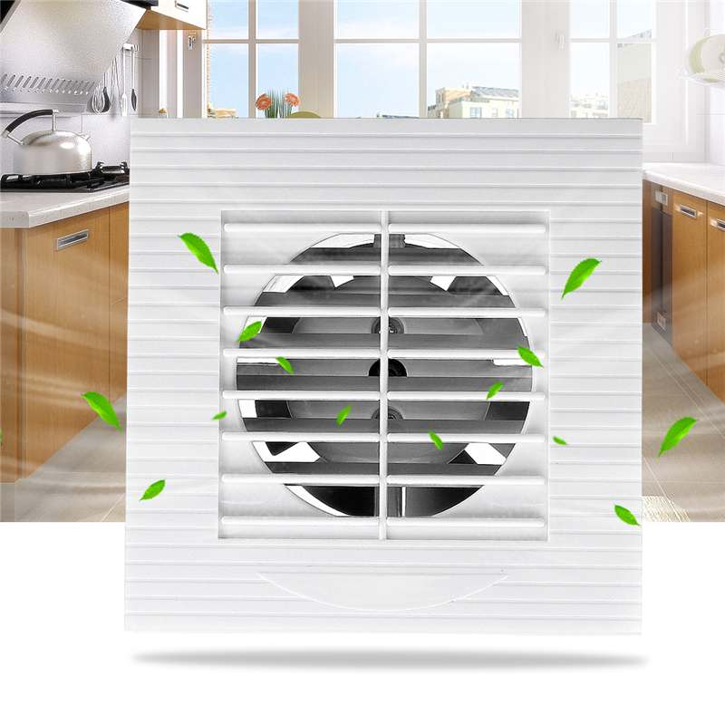 Low Noise 12W 220V Ventilator Extractor Wall Mounted 4 Inch Exhaust Fan Home Bathroom Kitchen Garage Air Vent VentilationLow Noise 12W 220V Ventilator Extractor Wall Mounted 4 Inch Exhaust Fan Home Bathroom Kitchen Garage Air Vent Ventilation