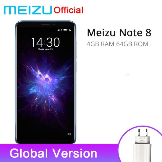 Global Version Meizu Note 8 4GB RAM 64GB ROM Smart Phone Snapdragon 632 6.0 inch 2160x1080P 3600mAh Battery Dual Rear Camera