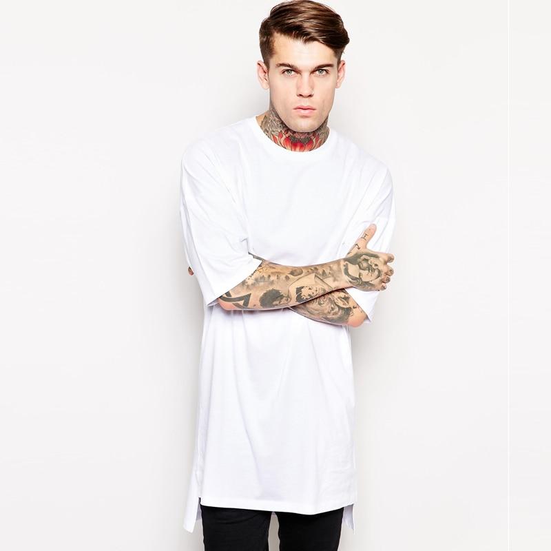 2016 Summer Long T shirt Men Extended T Shirt street wear ...