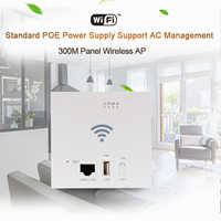 45Pcs 300Mbps WiFi Repeater 86 Panel in Wall Access Point USB2.0 POE 24V Wireless Router SSID 2.4G 802.11n 10/100M WAN LAN