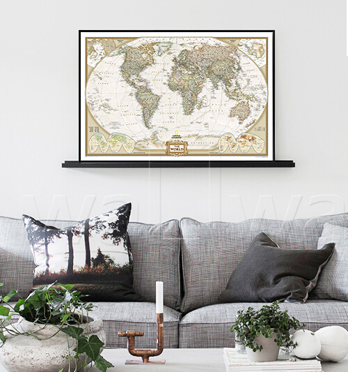 ⊰Cuadros Wall Pictures For Living Room World Map Canvas Painting