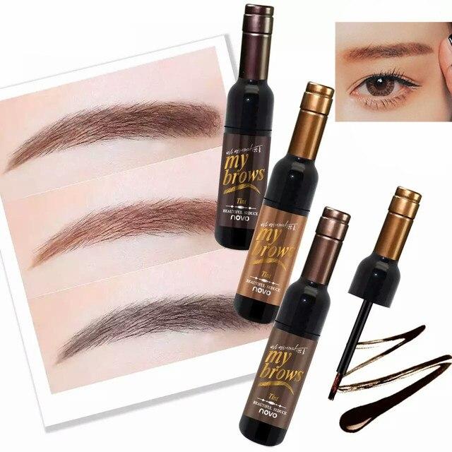 Peel-off Tattoo Eyebrow Gel Long-lasting Dye Tinted Brow Cream Waterproof Paint Makeup Eye Tint Cosmetics Black Brown Eyebrows 1