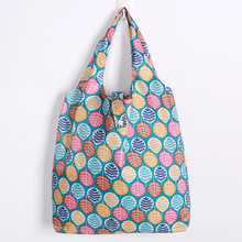 Oxford Foldable Shopping Bag Flower Print Handy Reusable Tote Pouch Recycle Storage Folding pocke