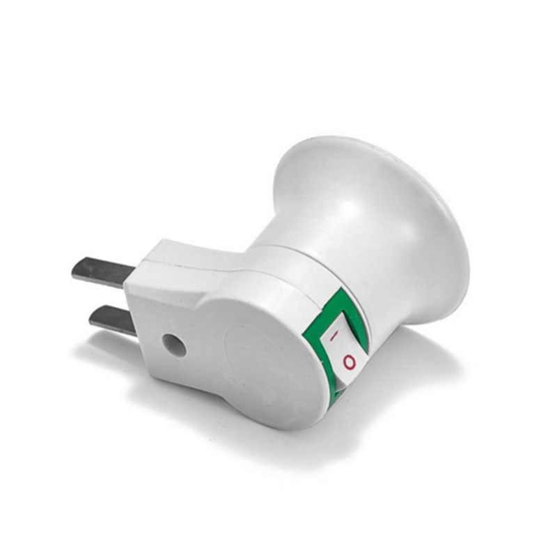 E27 100V-240V LED Light lamps Male Socket To USA Type Plug lights Adapter Converter For Bulb Lamp Holder With ON/OFF Button
