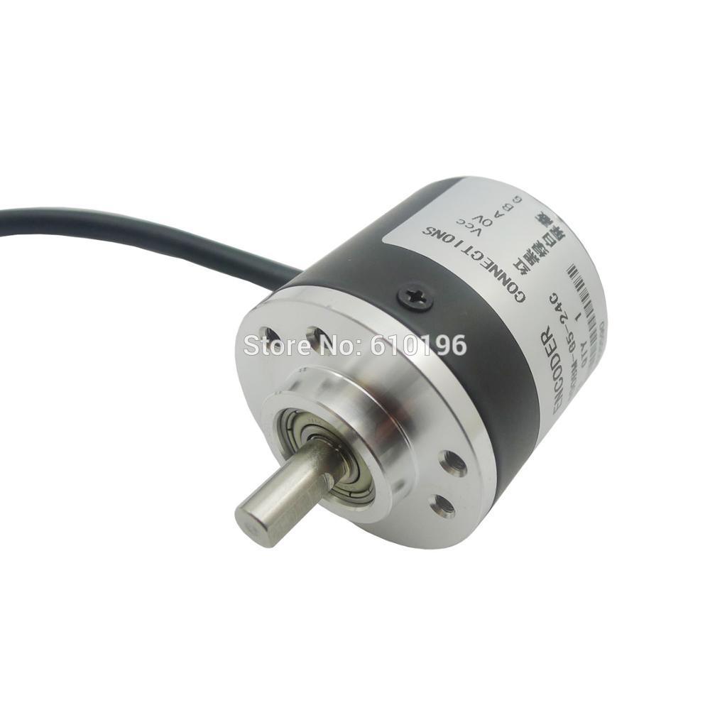 AB Two-phase 5-24V 400 Pulses Incremental Optical Rotary Encoder