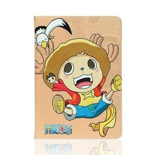 Tablet Case for ipad mini 1/2/3 One piece Luffy Chopper Zoro Usopp PU leather protective Cover flip stand shell coque para capa