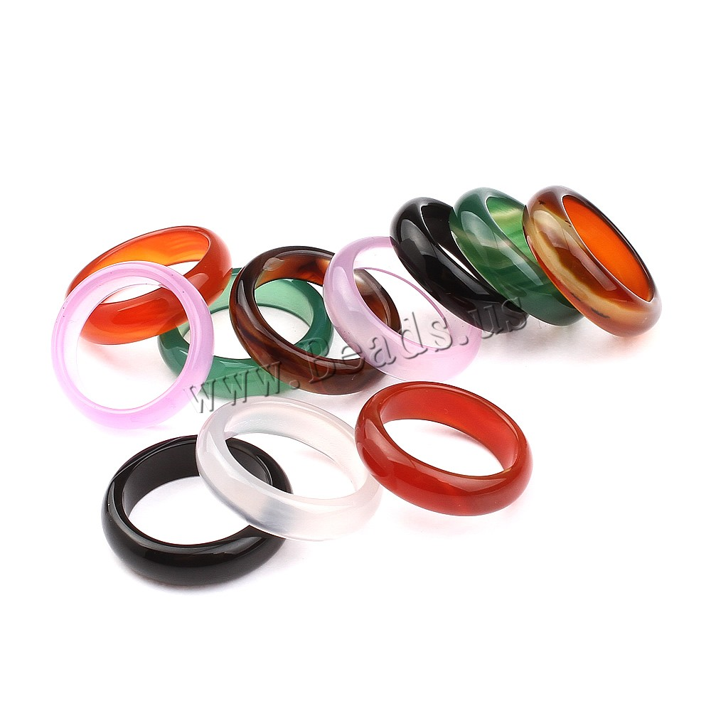 Aliexpress Buy Natural Agate Stone Donut Rings Jewelry Wedding Circle Rings For Women And