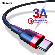 Baseus Fast Charging USB Type C Cable For Samsung S10 S9 USBC Type-c Cable For One Plus 5 6 6t Xiaomi Mi 9 8 USB-C Charger Cord