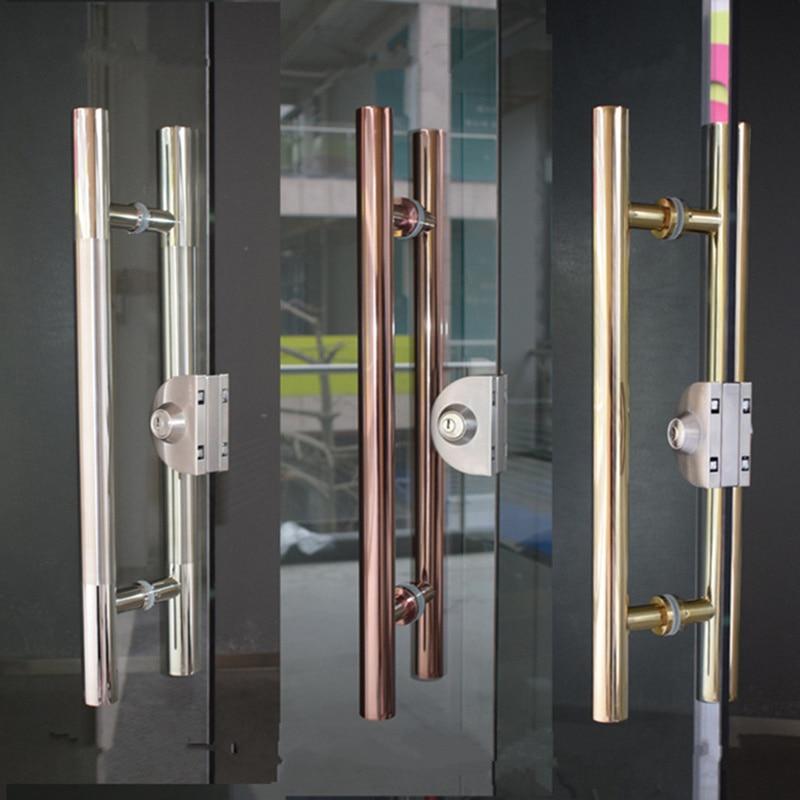 High grade Stainless steel glass door handle diameter 38mm Brushed Polishing bathroom shower wooden door Armrest