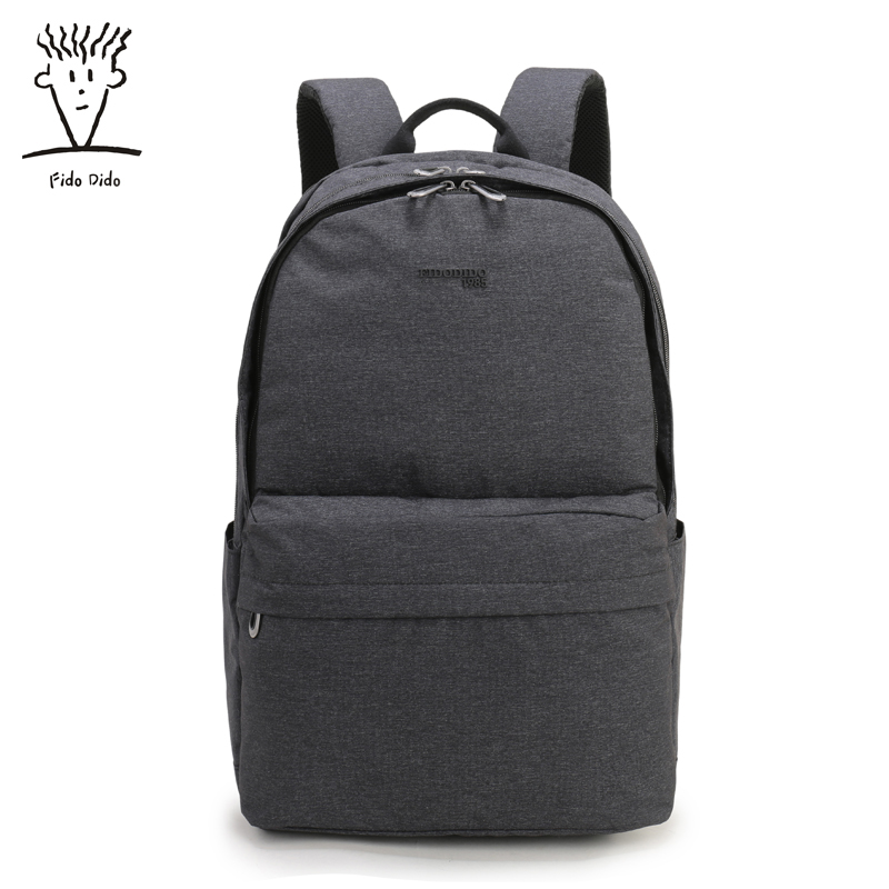 Fido Dido Men's Fashion Business Oxford Cloth Shoulder Bag Men's Backpack Korean Version of the Large Capacity Wear Durable!! fido