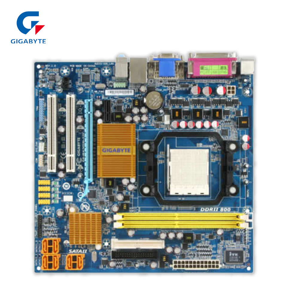 Gigabyte GA-MA74GM-S2H Desktop Motherboard 740G Socket AM2+ DDR2 Micro-ATX free shipping 100% original motherboard for gigabyte ga ma790gp ud3h ddr2 am2 am2 am3 desktop motherboard