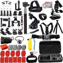 For Go professional equipment set for gopro equipment mount hero 5 four three 2 Black Version SJCAM M10 SJ4000 Eken h9r case xiaoyi chest tripod 12I