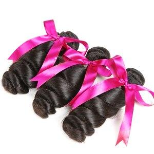 Image 3 - Karizma mèches péruvienne, cheveux non remy loose wave, 100% cheveux naturels, extension de cheveux, avec lace closure, lot de 4