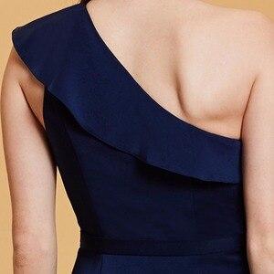 Image 5 - Dressv темно синее длинное вечернее платье, Дешевое женское платье на одно плечо, без рукавов, для свадебвечерние НКИ, официальное платье, вечернее платье, es