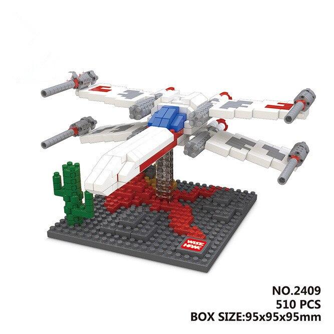 Alen Mini Building Nano blocks,best gifts,children,model,Educational toys,Wise Hawk,X-wing fighter,star wars series