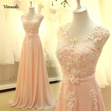 bridemaid dress vestido longo sexy sho-me 2018 new cheap pink lace bridesmaid Party Dress