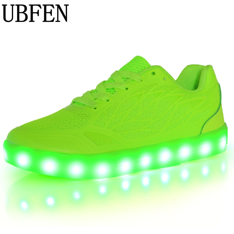 2017 Fashion  Led Flat Shoes for Adults Women Luminous Light Up Breathable Female Shoes Chaussure Femme Zapatos Mujer neon shoes new fashion women led shoes camouflage pattern usb charging light up shoes breathable glow in the dark shoes blue gray